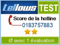 tellows Bewertung 0183757883